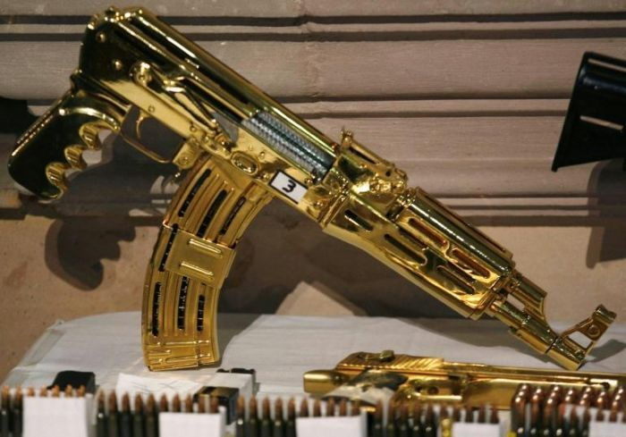 More Gold machine guns and pistols - most were never fired, just held for collection value.