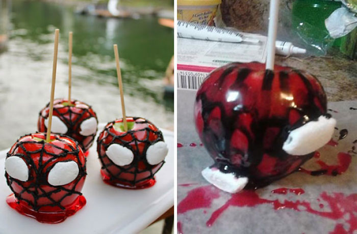Spider Man Candy Apples