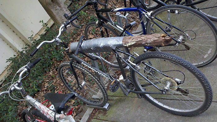 I Guess That Is One Way To Fix A Bike
