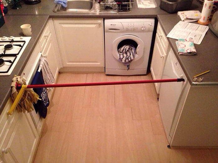 The Button On The Dishwasher Broke And Had To Be Held In Place To Do A Wash Cycle, Like Hell Was I Going To Stand There Holding It