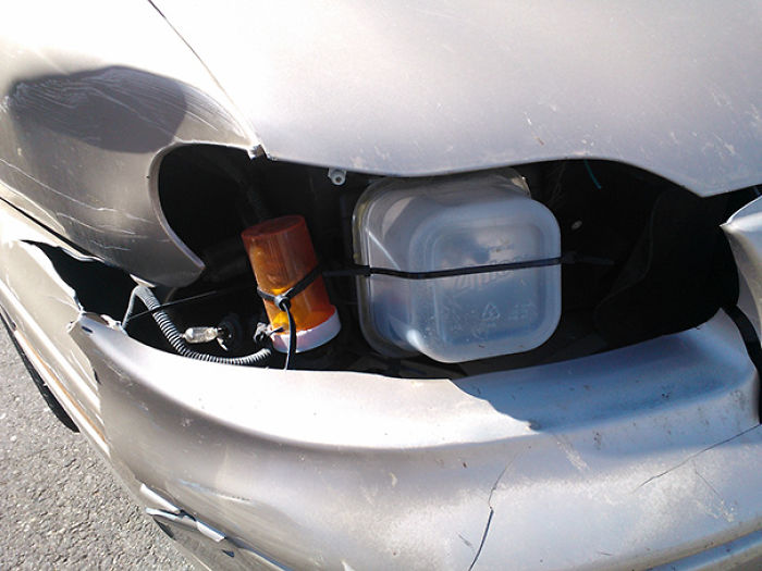 That's One Way To Fix Your Headlight