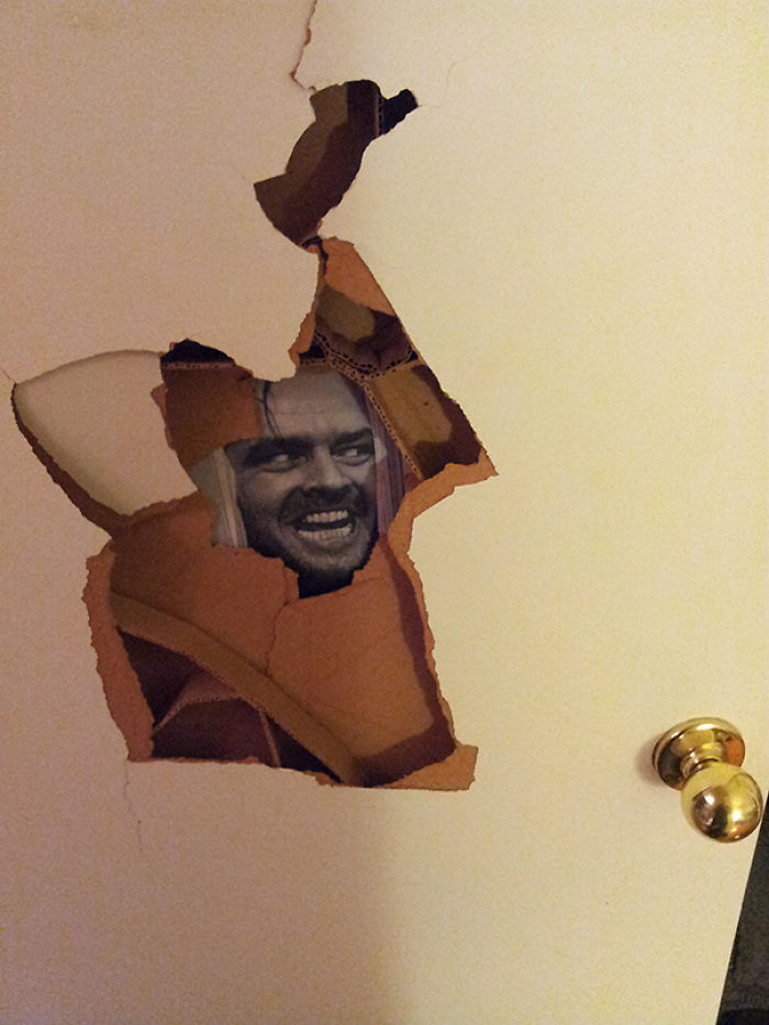 Roommate Punched A Hole In His Door. I Fixed It