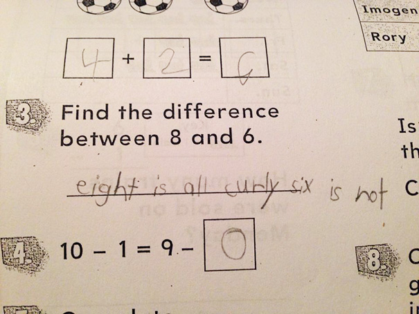 My 8-Year-Old Son Takes His Homework Directions Literally